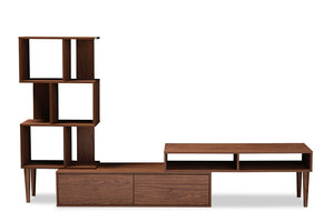 Baxton Studio Haversham TV Stand Entertainment Center & Display Unit-Console Tables-HipModernHome