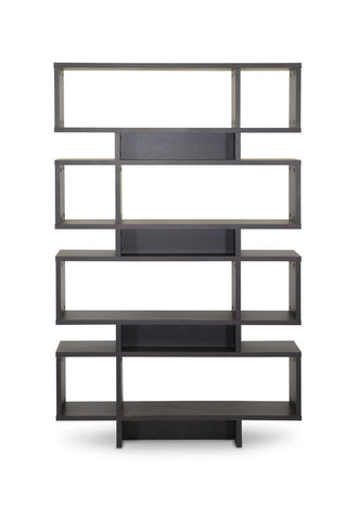 Baxton Studio Cassidy 8-Level Dark Brown Modern Bookshelf