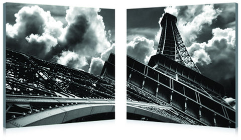 Baxton Studio Touch the Clouds Mounted Photography Print Diptych-Wall Decorations-HipModernHome