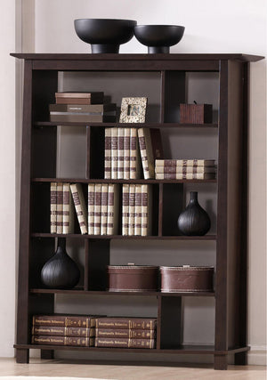 Baxton Studio Havana Brown Wood Modern Bookcase (Tall)-Bookcases-HipModernHome