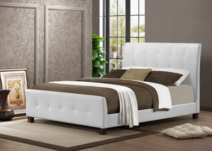 Baxton Studio Amara White Modern Bed - Full Size - White-Beds-HipModernHome