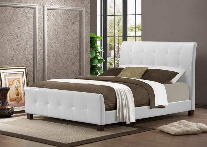 Baxton Studio Amara White Modern Bed - Full Size  - White