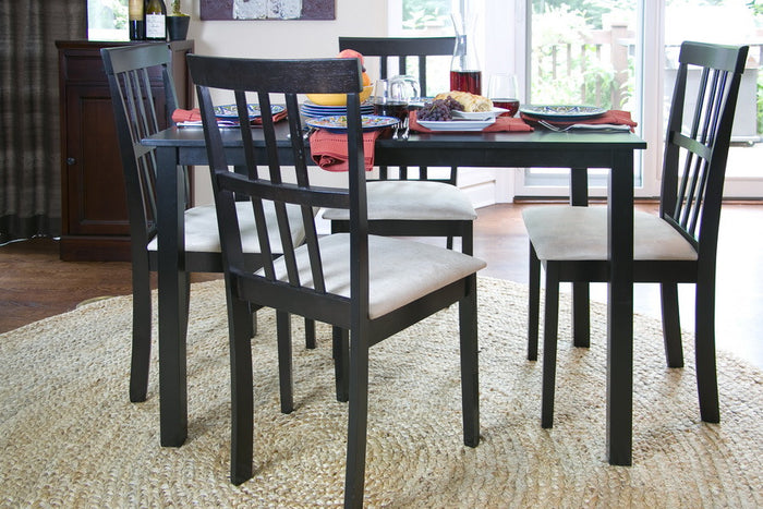 Baxton Studio 5PC Jet Moon Dining Set