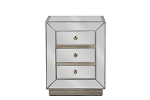 Baxton Studio Currin Mirrored Nightstand-Nightstands-HipModernHome
