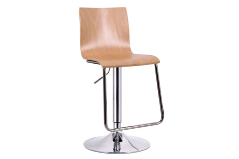 Baxton Studio Lynch Light Wood Modern Bar Stool - Set of 2-Bar Stools-HipModernHome