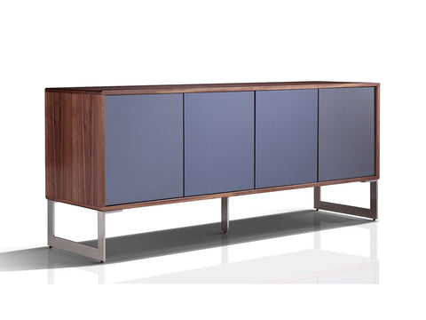 Casabianca CUADRO Walnut Veneer w Mirrored Glass Buffet - TC-0128-WAL-Buffets-HipModernHome