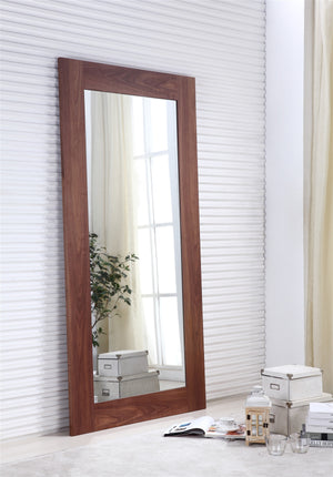 Casabianca VIEW Walnut Veneer Mirror - TC-0272-WAL-Mirrors-HipModernHome