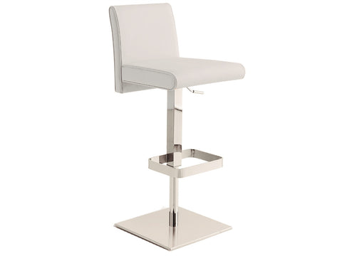 Casabianca VITTORIA Italian White Leather Bar Stool-Bar Stools-HipModernHome.com