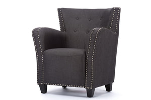 Baxton Studio Acton Grey French Accent Chair-Chairs-HipModernHome