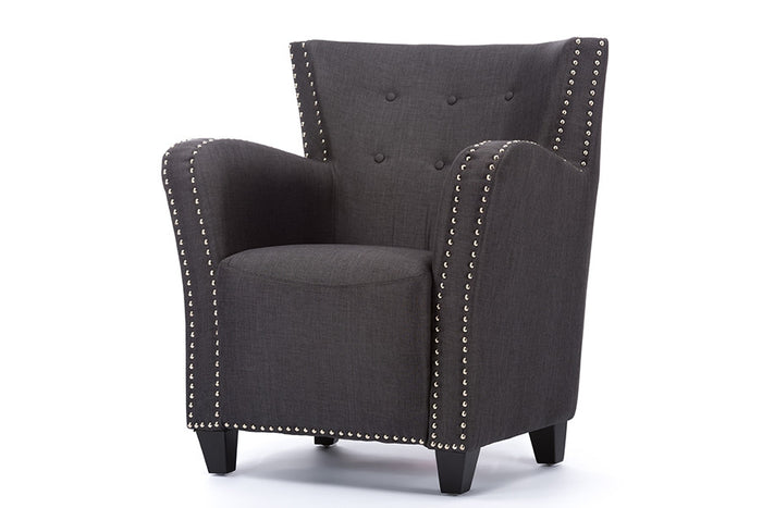 Baxton Studio Acton Grey French Accent Chair