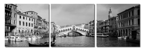 Baxton Studio Rialto Bridge Mounted Photography Print Triptych-Wall Decorations-HipModernHome