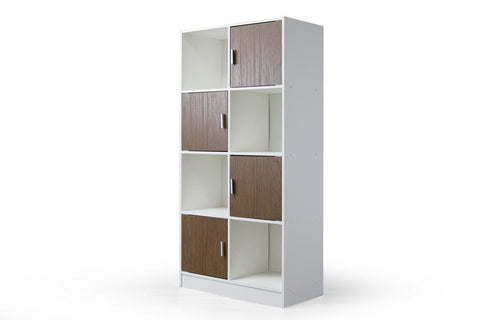Baxton Studio Chateau White/Brown Bookcase