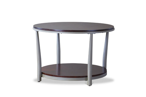 Baxton Studio Halo Wood and Metal Contemporary Coffee Table