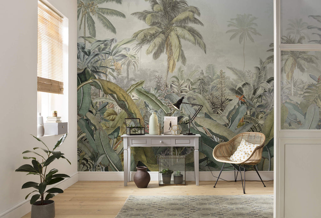 An Office or Home Lounge in Tropical Decor