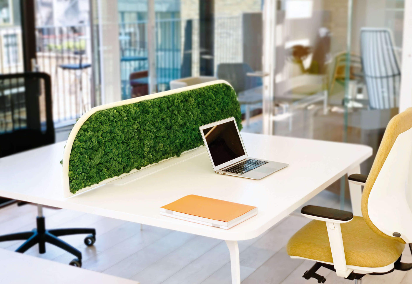 biophilic work environment, moss designs at Forest Homes