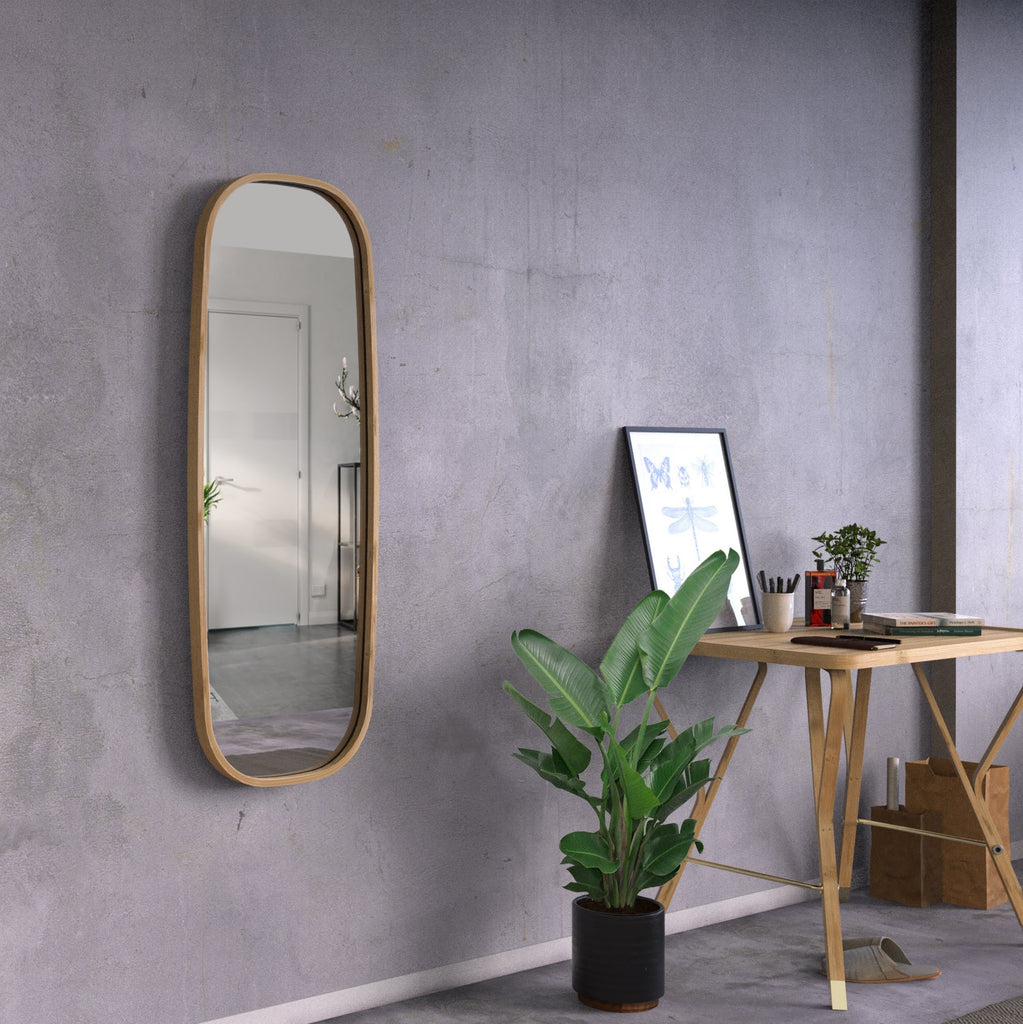 bamboo mirror at Forest Homes