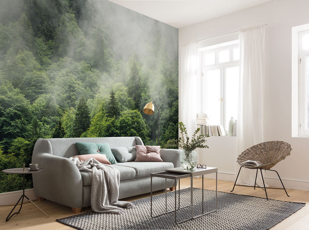 Nebbia Forest Mural Wallpaper at Forest Homes