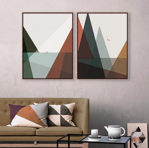 Nature inspired walls styles - Geometric Figurative