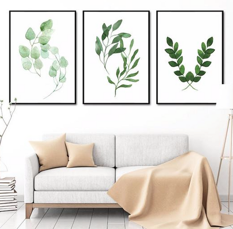 Nature inspired walls styles - Scandinavian