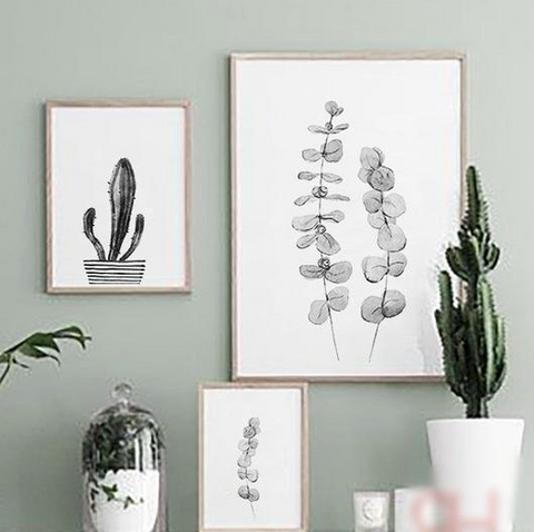 Nature inspired walls styles - Watercolour style