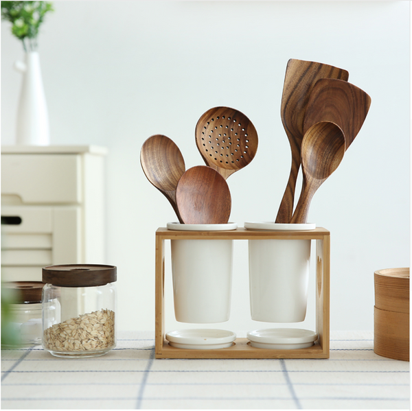 beautiful wooden tools at Forest Homes Store