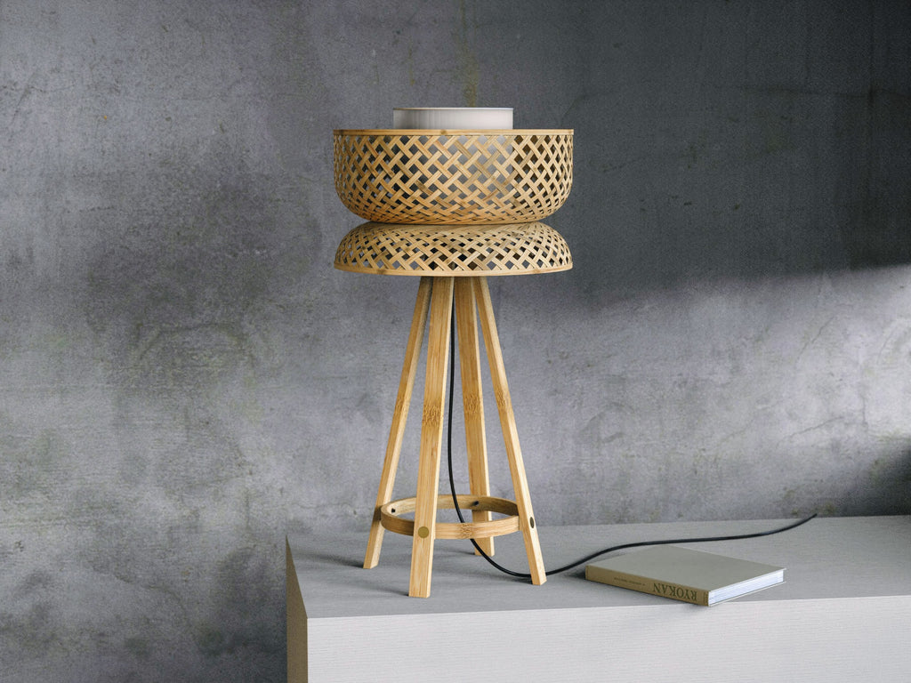 Table Bamboo Lamp