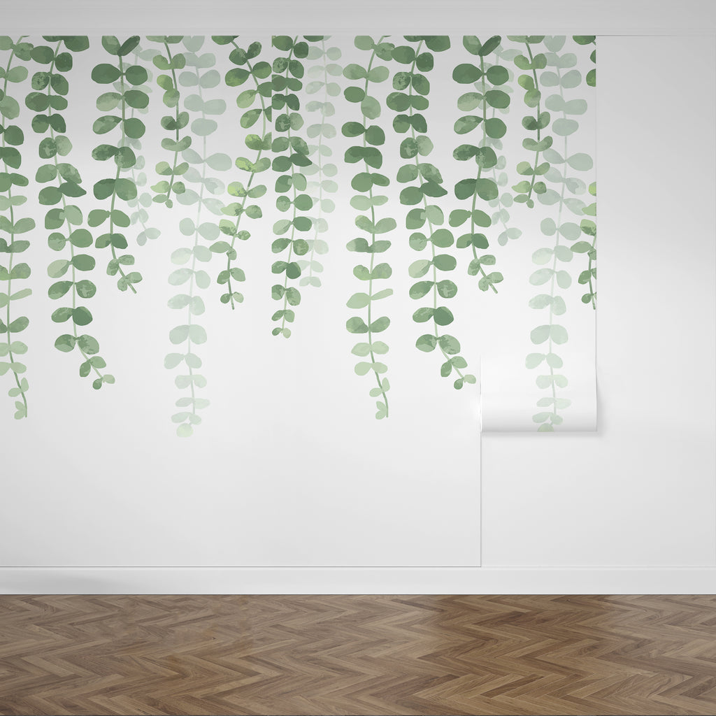 Installing a beautiful leaf wallpaper from Forest Homes - How to install different types of wallpaper, silk wallpaper, non-woven wallpaper and paper-based wallpaper