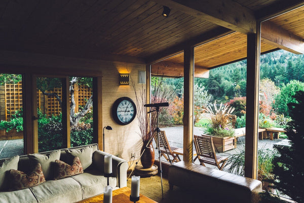 nature inspired living room decor, indoors and outdoors