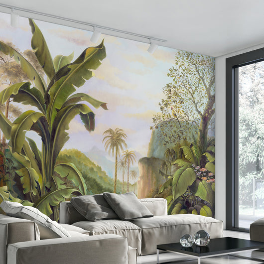 Nature inspired decor, Wall Decor, Enchanted Jungle Mural Wallpaper, Beautiful Natural Decor, Nature Designs, home decor, Forest Homes