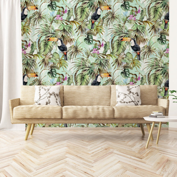 nature Wall Decor, Deep Tropic Mural Wallpaper, beautiful natural decor, nature inspired designs, best home decor, Forest Homes