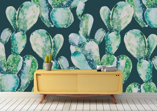 nature Wall Decor, Bold Saguaro Mural Wallpaper (m²), beautiful natural decor, nature inspired designs, best home decor, Forest Homes