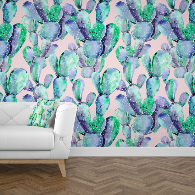 nature Wall Decor, Saguaro Cactus Mural Wallpaper (m²), beautiful natural decor, nature inspired designs, best home decor, Forest Homes
