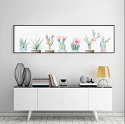 nature Wall Decor, Cactus Panoramic Canvas Print, beautiful natural decor, nature inspired designs, best home decor, Forest Homes