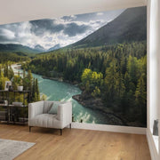 nature Wall Decor, Constant Flow Mural Wallpaper, beautiful natural decor, nature inspired designs, best home decor, Forest Homes
