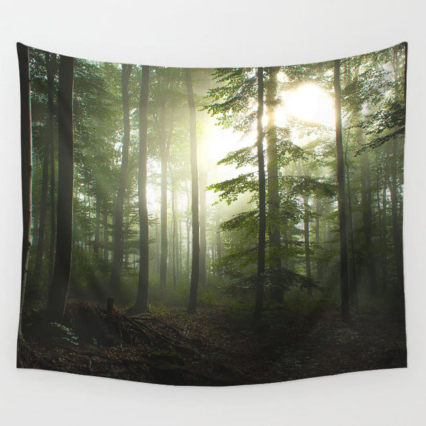 nature Wall Decor, Dawn Tapestry, beautiful natural decor, nature inspired designs, best home decor, Forest Homes