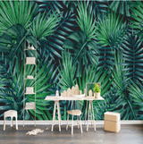 Nature decor, Wall Decor, Electric Green Mural Wallpaper, Beautiful Natural Decor, Nature inspired Design, home decor, Forest Homes