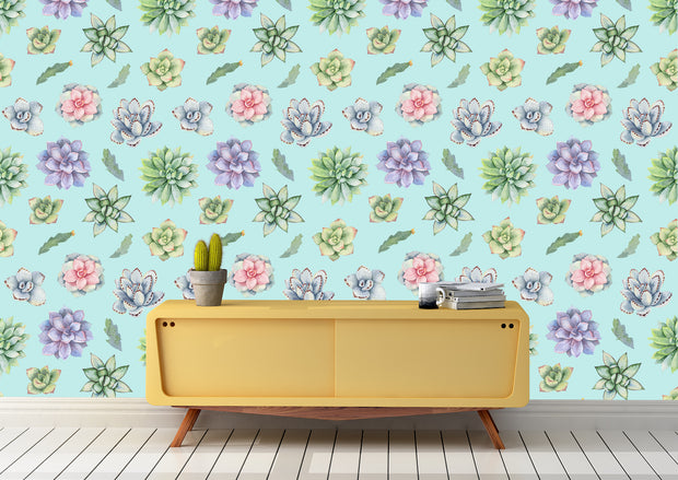 nature Wall Decor, Flying Succulent Wallpaper (m²), beautiful natural decor, nature inspired designs, best home decor, Forest Homes