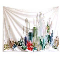 Nature decor, Wall Decor, Colorful Cactus Tapestry, Beautiful Natural Decor, Nature inspired Design, nature wallpaper, floral wallpaper, forest wallpaper, mural wallpaper, nature canvas, canvas prints, nature tapestries, glass terrariums, home decor, Forest Homes