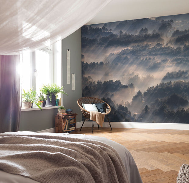 nature Wall Decor, Dark Clouds Wallpaper Mural, beautiful natural decor, nature inspired designs, best home decor, Forest Homes