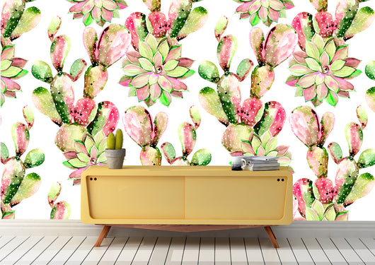 Nature inspired decor, Wall Decor, Fresh Cactus Mural Wallpaper (m²), Beautiful Natural Decor, Nature Designs, home decor, Forest Homes