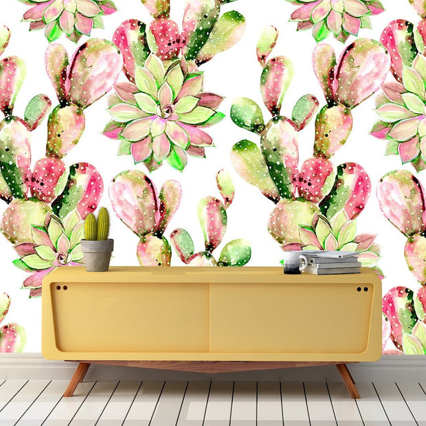 nature Wall Decor, Fresh Cactus Mural Wallpaper (m²), beautiful natural decor, nature inspired designs, best home decor, Forest Homes