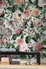 nature Wall Decor, Full Blooms Mural Wallpaper, beautiful natural decor, nature inspired designs, best home decor, Forest Homes