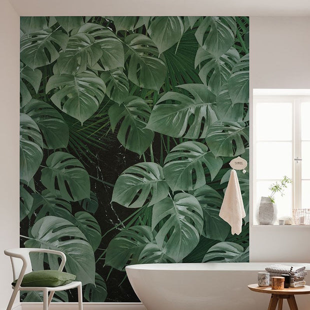 nature Wall Decor, Garden of Monstera Mural Wallpaper, beautiful natural decor, nature inspired designs, best home decor, Forest Homes