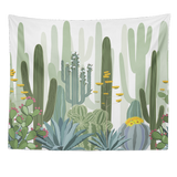 Nature decor, Wall Decor, Golden Cactus Tapestry, Beautiful Natural Decor, Nature inspired Design, nature wallpaper, floral wallpaper, forest wallpaper, mural wallpaper, nature canvas, canvas prints, nature tapestries, glass terrariums, home decor, Forest Homes