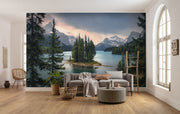 nature Wall Decor, Island Home Mural Wallpaper, beautiful natural decor, nature inspired designs, best home decor, Forest Homes