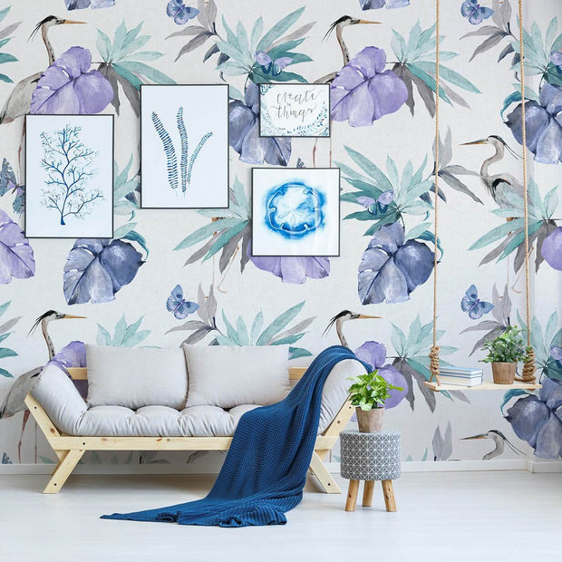 nature Wall Decor, Lilies of the Nile Mural Wallpaper, beautiful natural decor, nature inspired designs, best home decor, Forest Homes