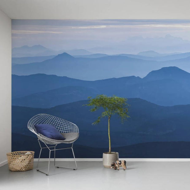nature Wall Decor, Mountain Dawn Mural Wallpaper, beautiful natural decor, nature inspired designs, best home decor, Forest Homes