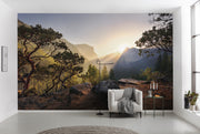 nature Wall Decor, Mountain Meditation Mural Wallpaper, beautiful natural decor, nature inspired designs, best home decor, Forest Homes