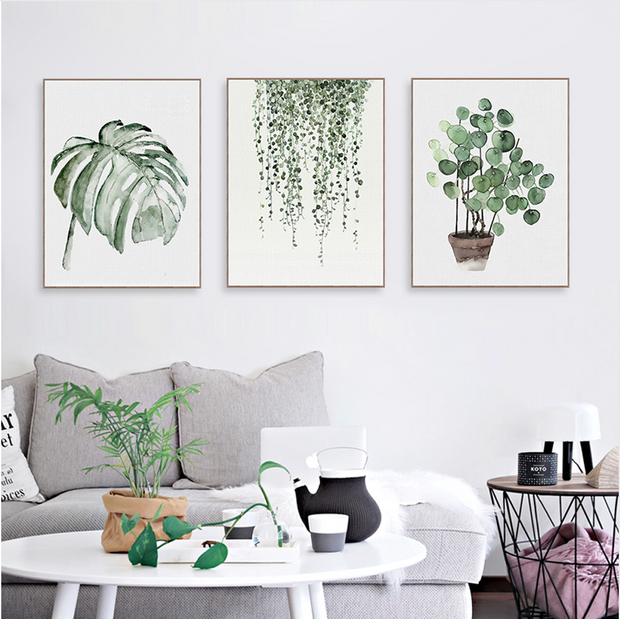 nature Wall Decor, Pilea Peperomioides Canvas Prints, beautiful natural decor, nature inspired designs, best home decor, Forest Homes