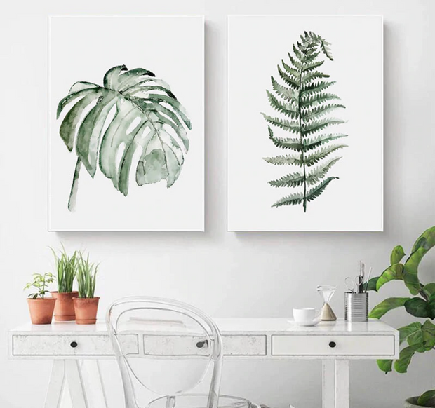 nature Wall Decor, Ostrich Fern Canvas Prints, beautiful natural decor, nature inspired designs, best home decor, Forest Homes